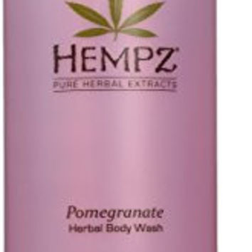 Hempz Herbal Body Wash, Light Pink, Pomegranate, 33.8 Fluid Ounce