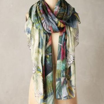 Jangala Scarf by Anthropologie in Botanical Motif Size: One Size Scarves