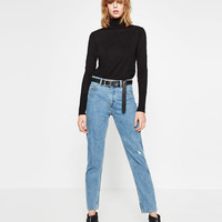 HIGH WAISTED MUM FIT JEANS DETAILS