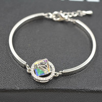 Hot Sale New Arrival Great Deal Awesome Gift Shiny Design Crystal Korean Stylish Simple Design Gifts Bracelet [10417741012]