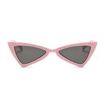 The Bowtie Bling Sunglasses Pink