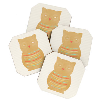 Allyson Johnson Native Owl Coaster Set