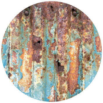 Paul Moore's Rusted Metal Circle wall decal
