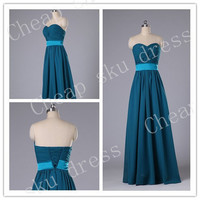 New Design A-line Sweetheart Ruffle Sash Long Bridesmaid Dress Party Dress Evening Dress Prom Dress Formal Dress 2014