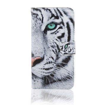 Tiger Eye Flip Wallet iPhone 7 Cases 5S,SE, 6,6s,7,7+