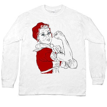 Mrs. Claus the Riveter -- Unisex Long-Sleeve