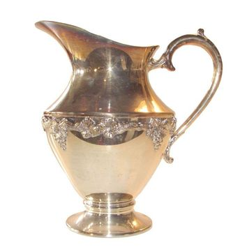 Pre-owned Silver Plated Water Pitcher