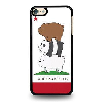 we bare bears california republic ipod touch 6 case cover  number 1
