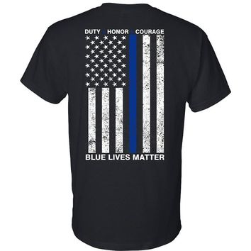 POLITICAL COSPLAY:  Blue Lives Matter T Shirt free shipping