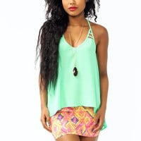 strappy-high-low-tank MINT NEONCORAL - GoJane.com
