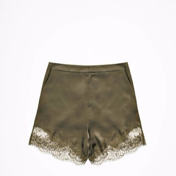 H&M Studio A/W 2014 Silk Blend & Lace High Waist 40's Style Tap Pants Shorts 4