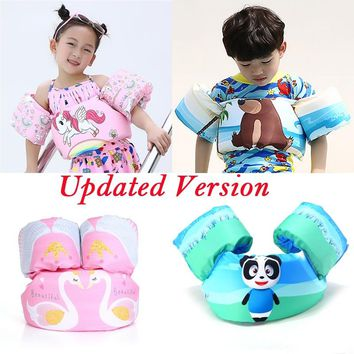 Summer Bath Toy Cartoon Unicorn Life Jacket Safety Vest Puddle Crab Dolphin Flamingo Bear Panda Shark Swimming Fish for Kid Baby