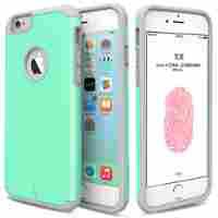ULAK iPhone 6 Plus Case, [Slim Fit] Sugar Candy [Anti-Slip] Drop Protection with Shock Absorbent [Hybrid PC & Silicon Case] Cover Case for Apple iPhone 6 Plus / 6s Plus - [Pink/Gray]