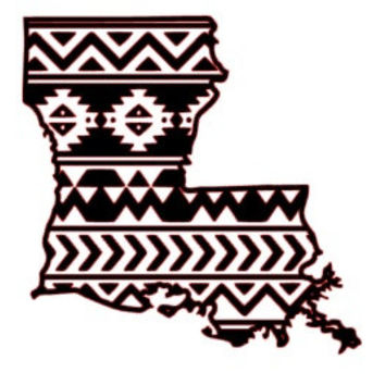 Aztec/Tribal Louisiana Decal Aztec Car Window Decal Tribal Car Decal