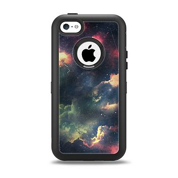 The Vintage Stormy Sky Apple iPhone 5c Otterbox Defender Case Skin Set