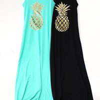 Pineapple Tank Dress. Pineapple. Pineapple Tank. Pineapple Tee T Shirt. Gold Pineapple. Pineapple Shirt. Pineapple Graphic. Tumblr Tank