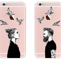 Lover Case Cover for iPhone 7 7 Plus & iPhone se 5s 6 6s Plus +Gift Box