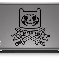Adventure Time Inspired Finn Pirate Die Cut Vinyl Decal Sticker
