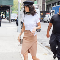 Compact Overlap Pencil Skirt by Kendall + Kylie