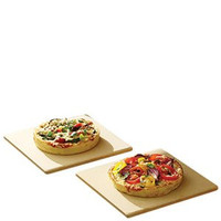 "Mr. Pizza 7.5"" Cordierite Grill Stone Tiles, 2Pcs"