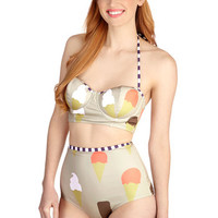 ModCloth Vintage Inspired Forever Yum Swimsuit Top