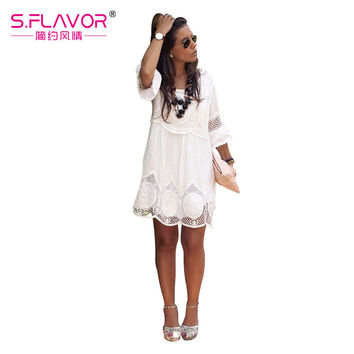 Dress spring summer  womens sexy dresses Above Knee Mini Lace dress women summer  women denim dress women