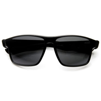 Mens Action Sports Wide Frame Horned Rim Sunglasses 9331