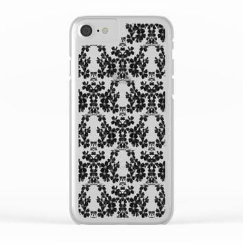 primrose bw pattern Clear iPhone Case by ARTbyJWP