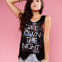 Papaya Clothing Online :: WE OWN THE NIGHT GRAPHIC TOP