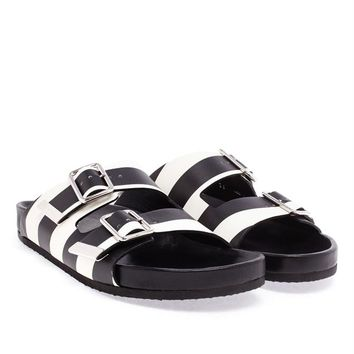 Striped Buckle Sliders - GIVENCHY