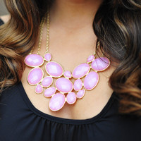 Beauty In Everything Necklace: Pink | Hope's