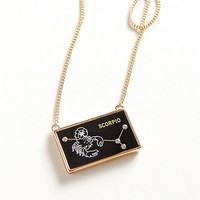 Zodiac Glass Pendant Necklace | Urban Outfitters