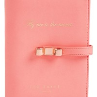 Women's Wild and Wolf x Ted Baker London Travel Document Holder - Coral