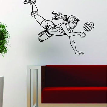 Volleyball Player Version 1 Sports Design Decal Sticker Wall Vinyl Art Decor Home