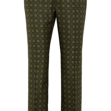 F.R.S For Restless Sleepers - Ceo printed silk-twill wide-leg pants