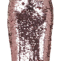 PINK SEQUIN PENCIL SKIRT