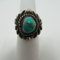 Sterling Southwestern Style Turquoise Ring