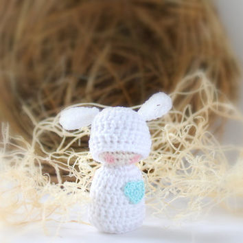 Crochet Easter Lamb - Easter Tree Ornament - Easter Decor - Nature Table - Easter Basket - Easter Egg Surprise