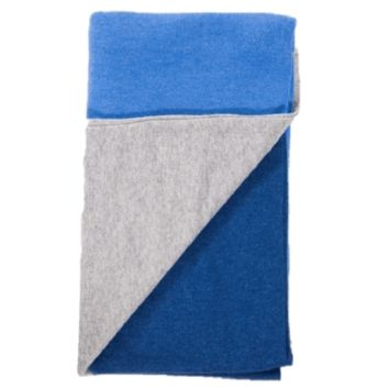 Merino / Cashmere Color Band Knit Throw by Alashan