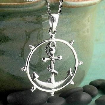 Clean & Bright Steering Wheel with Anchor Necklace