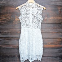 Lioness wedding bells sleeveless lace bodycon dress in white