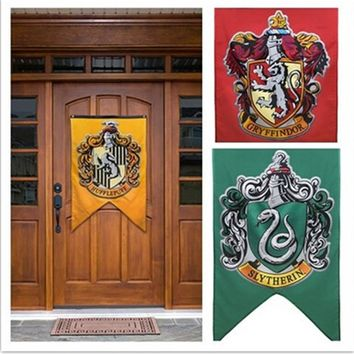 New College Flag Banners Gryffindor Slytherin Hufflerpuff Ravenclaw Boys Girls Kids Decor Harry Potter Christmas Party Supplies