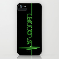 Greys Anatomy: Ya Coded iPhone & iPod Case by drmedusagrey