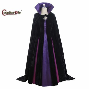 Cool Cosplaydiy Maleficent From Sleeping Beauty Cosplay Costume Evil Queen Cosplay Luxury Dress With CapeAT_93_12