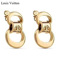 LV Louis Vuitton New fashion women earring women Golden