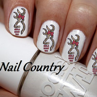 50pc Country Browning Deer Girls Hunt Too Redneck Browning Nail Decals Nail Art Nail Stickers Best Price On Etsy NC158