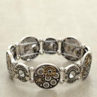 Silver 12 Gauge Shotgun Stretch Bracelet