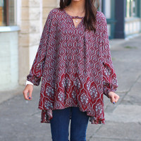 Damask Border Tunic {Marsala}