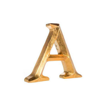 Choose Your Color - Freestanding Letters, Letter A, Gold Letters, Wedding Table Decor, Distressed Letters