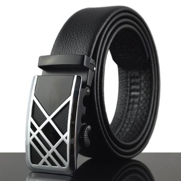 Men's Leather Belt Automatic Belt Men Fashion Belt Belts Cummerbunds Genuine Leather Belt